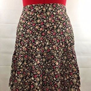 Monteau Layered Circle Skirt Floral Pink Roses